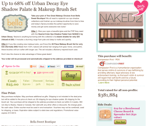 50% off Urban Decay Naked 2 Palette